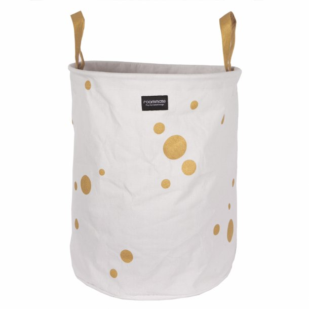 GOLDEN DOTS laundry basket