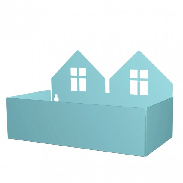 TWIN HOUSE BOX pastel blue